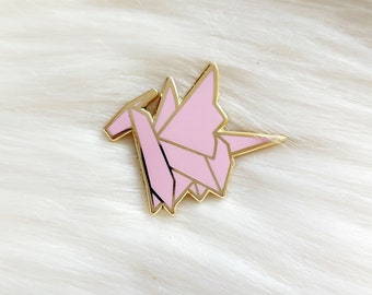 Baby Pink Origami Dragon Pin