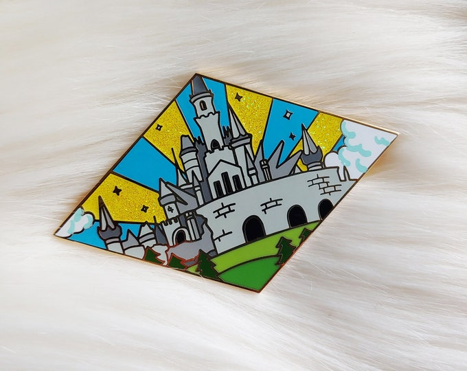 Peaceful Castle Video Game Inspired Enamel Pin