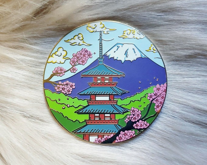 Scenic Japan Enamel Pin Series- Chureito Pagoda