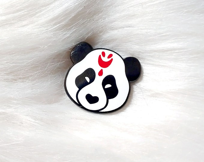 Japan Inspired Panda Mask Small Enamel Pin