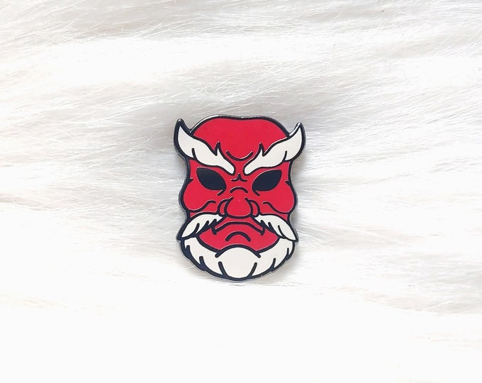 Japan Inspired Tengu Mask Small Enamel Pin