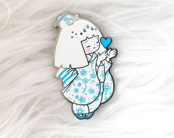 Porcelain Kokeshi Doll Enamel Pin