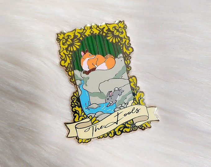 Fox and Rabbit Framed Enamel Pin Story Series - The Fools