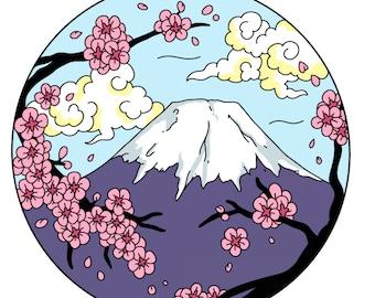 Scenic Japan Enamel Pin Series- Mt. Fuji *Preorder deal*