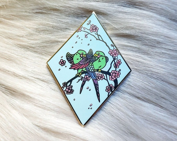 Scenic Japan Enamel Pin Series- Lovebirds