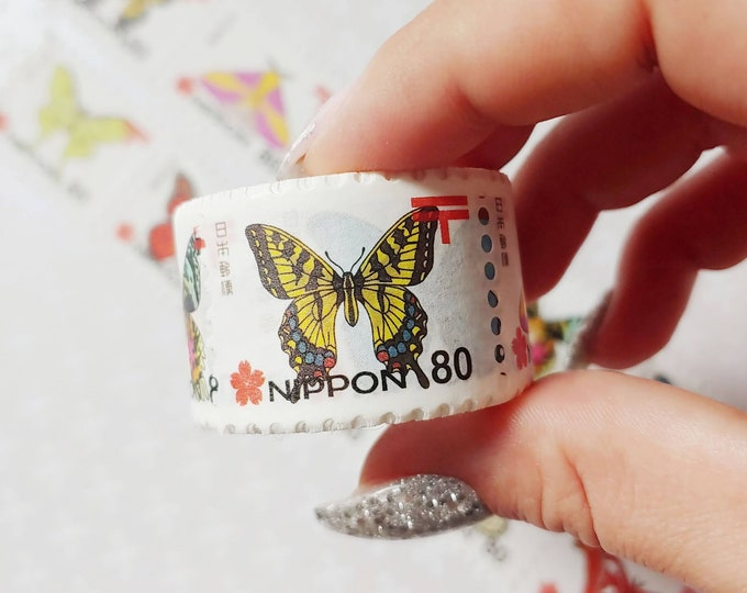 Washi Tape - Japanese Butterfly Stamps