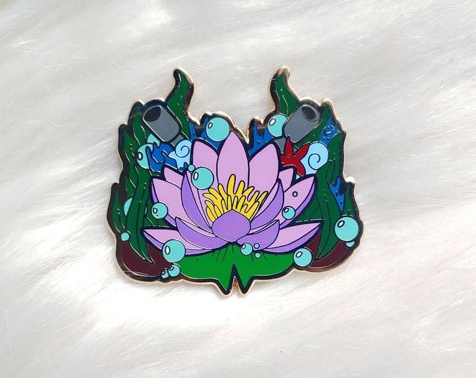 Underwater Floral Enamel Pin
