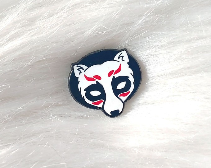 Japan Inspired Tanuki Mask Small Enamel Pin