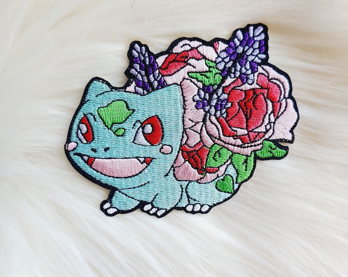 Spring Floral Poke Iron-on Patch