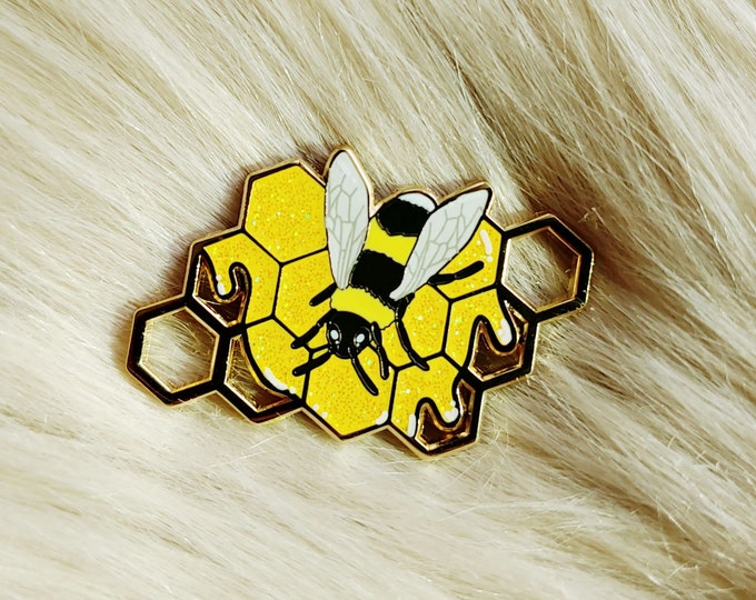 Golden Bee Enamel Pin
