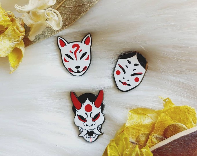 Japan Inspired Masks Set of Three