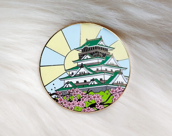 Scenic Japan Enamel Pin Series- Osaka Castle