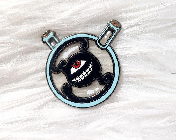 Translucent Dwarf in a Bottle Enamel Pin