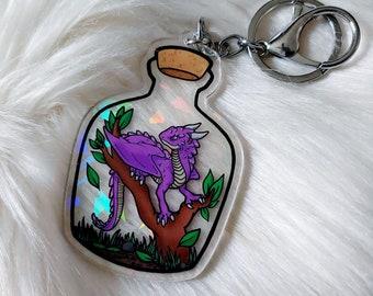 Dragon Terrarium Charm - Purple
