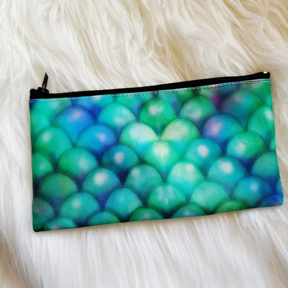 Dragonscale Pattern Pencil or Cosmetic Pouch