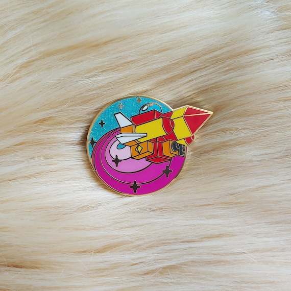 Gummi Ship Glitter Space Ship Enamel Pin *Seconds Imperfect Pin Deal*