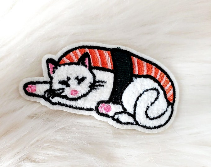 Sushi Cat Chenille Iron-on Patch