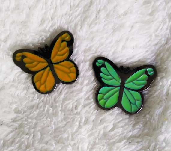 Magical Butterflies: Tropical Color Changing Thermal Enamel Pin