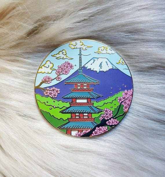 Scenic Japan Enamel Pin Series- Chureito Pagoda