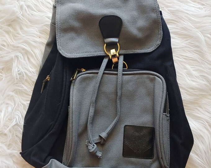 Black and Gray Canvas Backpack