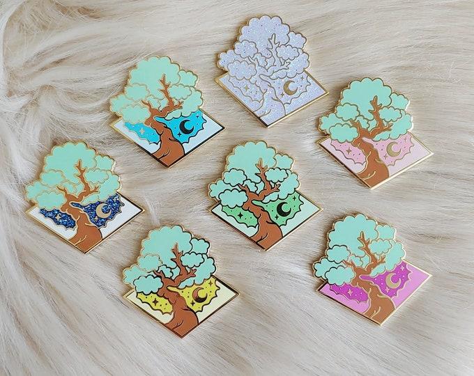 Bonsai Tree Slybonsai Logo Enamel Pins