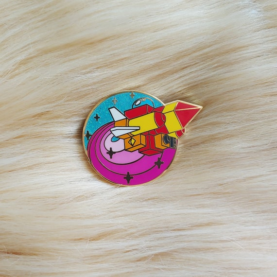 Gummi Ship Glitter Space Ship Enamel Pin