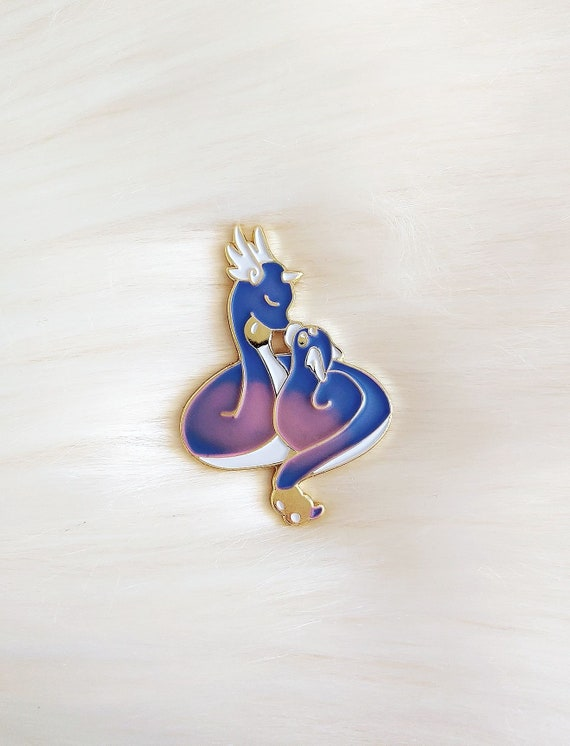 Mother's Love Dragons Color Changing Thermal Enamel Pin *Seconds Imperfect Pin Deal*