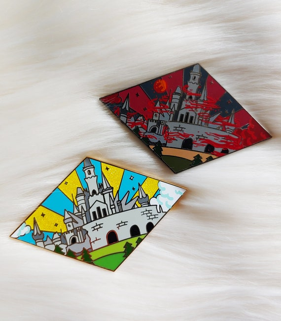 Castles Set Video Game Inspired Enamel Pins