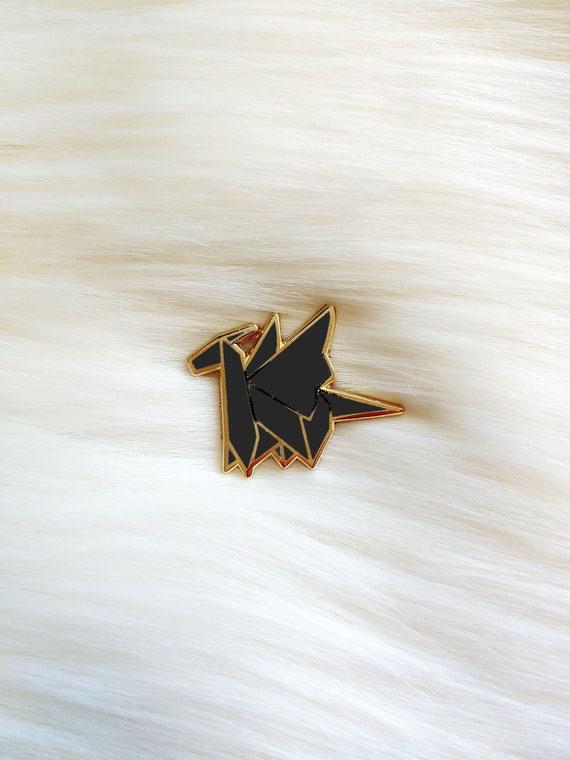 Black Origami Dragon Pin **Preorder Deal**