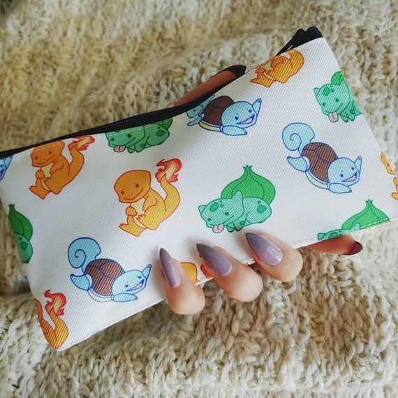 Poke Pattern Pencil or Cosmetic Pouch