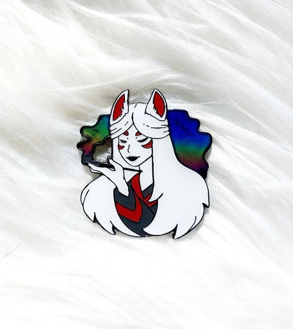Kitsune Goddess Moody Thermal Enamel Pin
