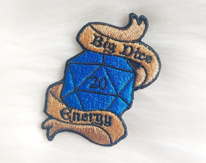 Big Dice Energy D&D Iron-on Patch