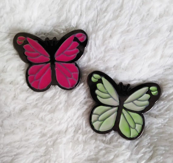 Magical Butterflies: Watermelon Color Changing Thermal Enamel Pin