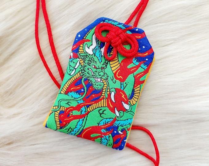 Dragon Omamori Charm - Blue