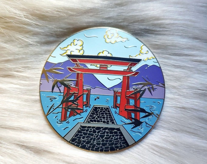 Scenic Japan Enamel Pin Series- Hakone Lake Ashi Torrii Gate