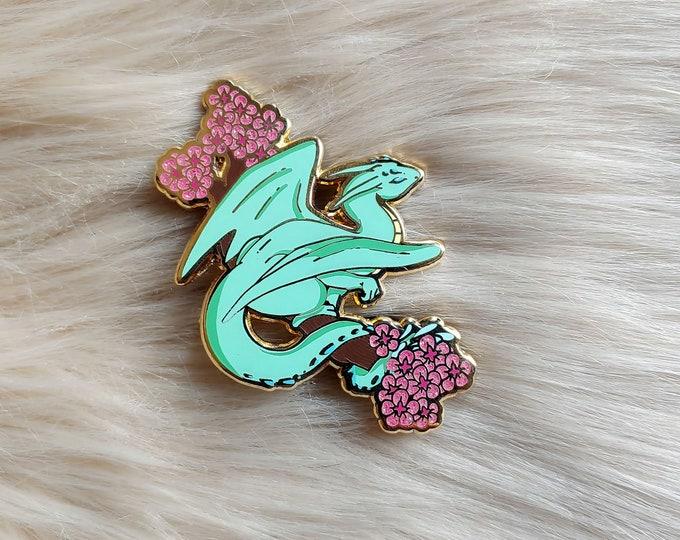 Dragon Branch Enamel Pin - Green