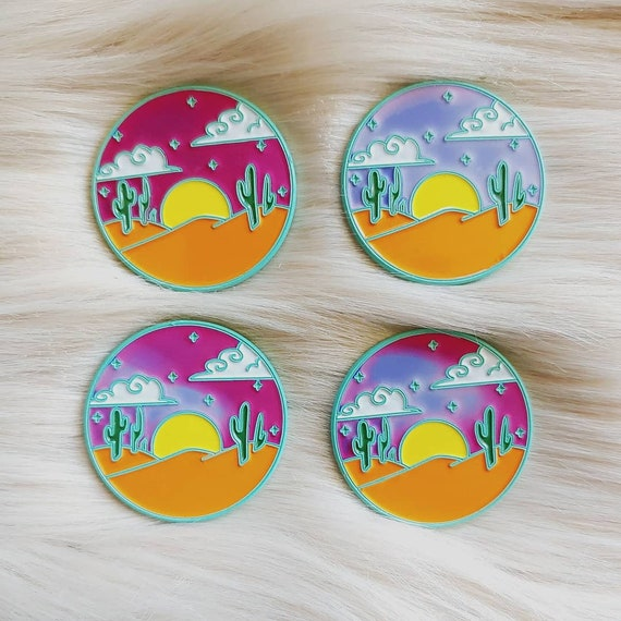 Desert Sunset Thermal Pin *Seconds Imperfect Pin Deal*