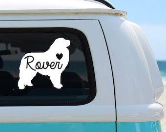 Great Pyrenees Heart Hands Sticker k661 8 inch dog decal