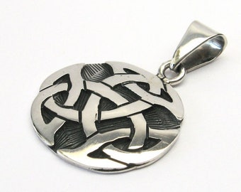 Great Celtic knot Celtic silver 925 Trinity pendant solid Celtic knot pendant Trinity