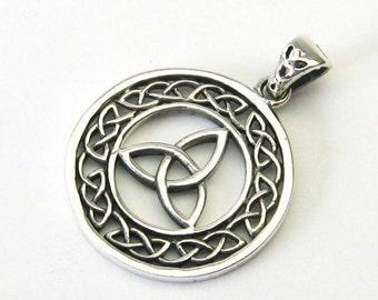 Celtic knot Celtic Silver 925 jewelry pendant celtic knot Trinity Three unity Triquetta Triquetra Triquettra