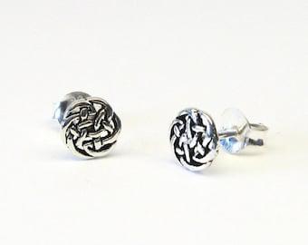 Celtic knot Celtic Stud Earrings Silver 925