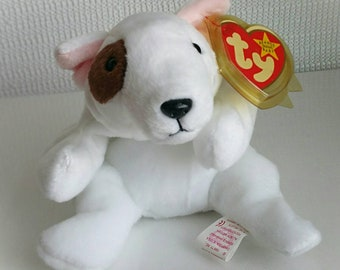 407d2218f50 Ty Beanie Baby BUTCH The Dog White and Brown Plush Toy Rare Retired 1998 Beanie  Baby Original October Birthday Pet Memory Mother s Day