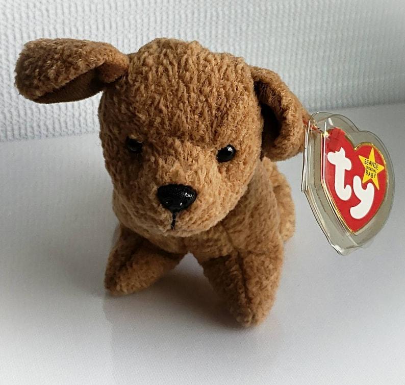 4675d164845 Ty Beanie Baby TUFFY Retired 1996 Original Dog Brown Plush Toy