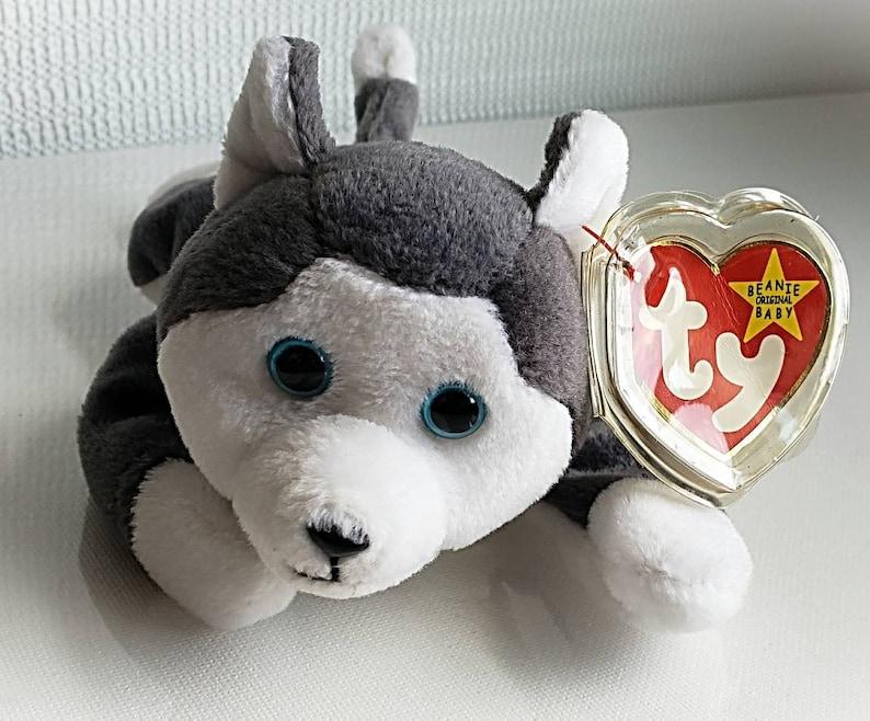 076a6bd50da Ty Beanie Baby NANOOK Retired 1996 Original Dog Gray Plush Toy