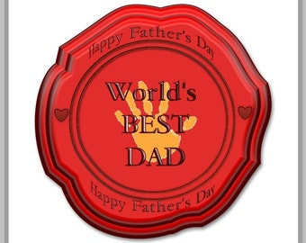 Dztinct Father's Day Seal print