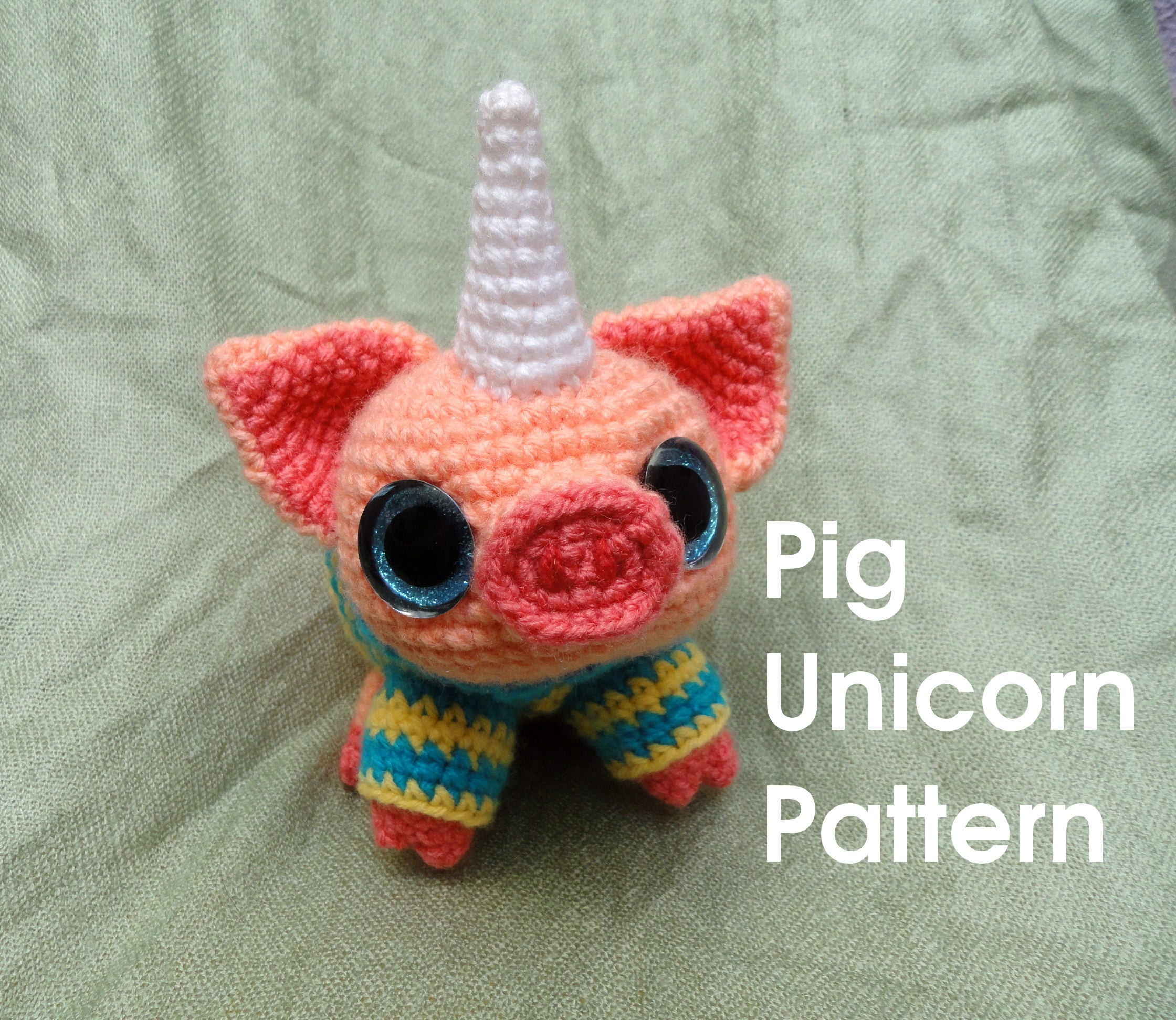 Pig unicorn Pattern