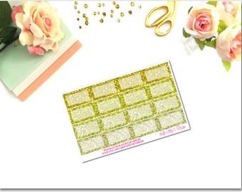 Gold Tones Glitter Squared Half Boxes