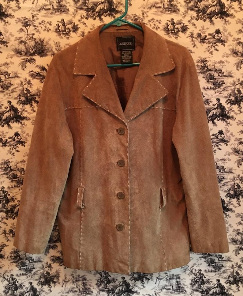 4b01f4f7 Vintage Suede Coat Vintage Outbrook Leather Jacket 1970 Hippie | Etsy
