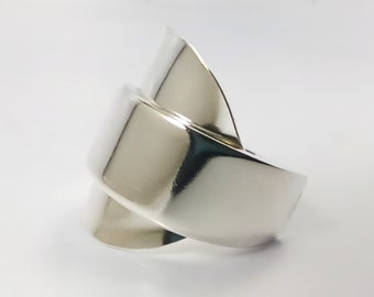 Spoon Ring, Silver Spoon Jewelry, Wide Ring, Boho Jewelry, Chunky Ring, Jewelry Gift, Man Jewelry, Man Ring, Unusual Jewelry, Unisex Ring