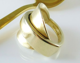 90835d1232fd2 Gold spoon ring   Etsy